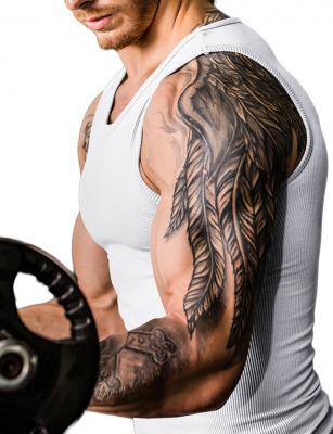 Ventilate seamless belly slimming vest male shaper 2
