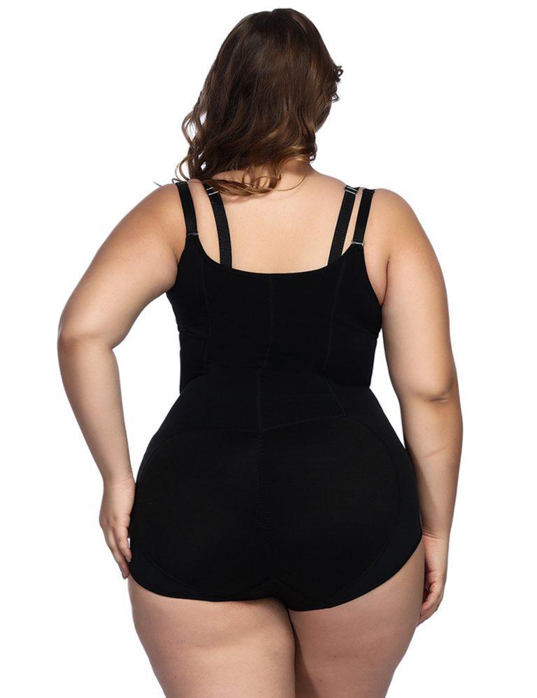 Mimi black tummy control butt lifting Cami strap shape wear 5