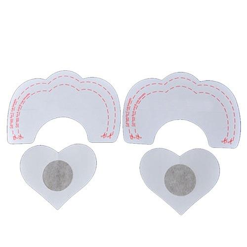 Breast Lift Reusable semi-translucent self adhesive round nipple