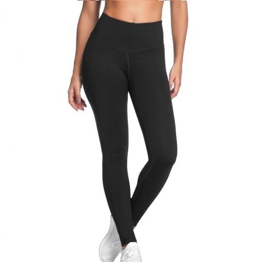 Linzy Black Ultra High Rise Yoga/Fitness Leggings (Full Length)
