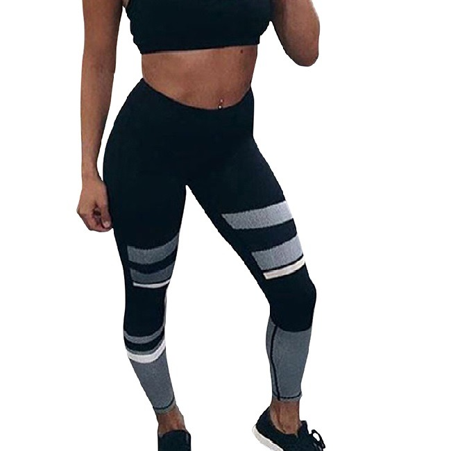 Zime Comfort Thight Fit color block yoga/fitness leggings (Ankle Length)
