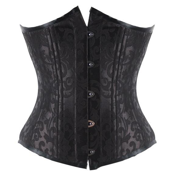 Debra Black 26 steel-breasted underbust corset
