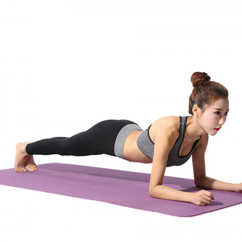 TPE anti slip layer yoga/fitness mat